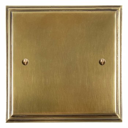 Edwardian Single Blank Plate Antique Satin Brass