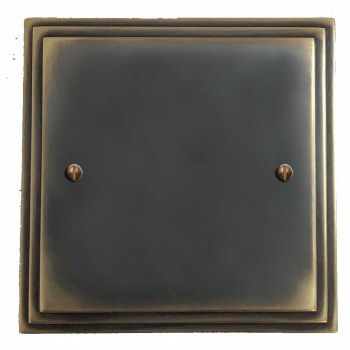 Edwardian Single Blank Plate Dark Antique Relief