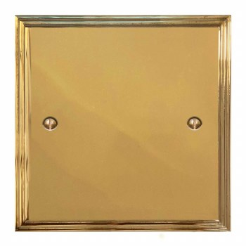Edwardian Single Blank Plate Polished Brass Unlacquered