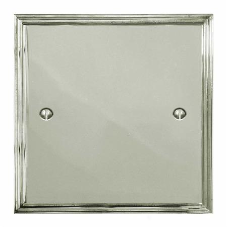 Edwardian Single Blank Plate Polished Nickel