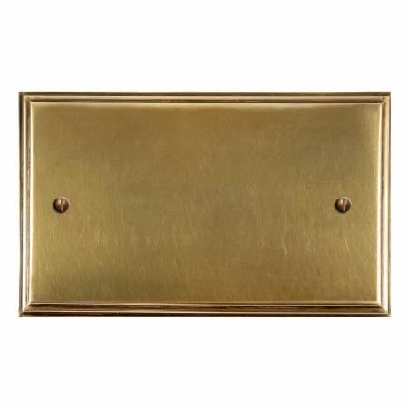 Edwardian Double Blank Plate Antique Satin Brass