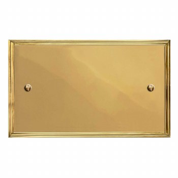 Edwardian Double Blank Plate Polished Brass Unlacquered