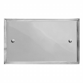Edwardian Double Blank Plate Polished Chrome