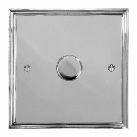 Edwardian Dimmer Switch 1 Gang Polished Chrome