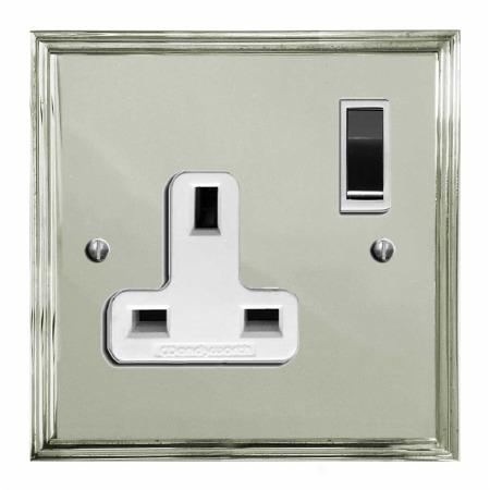 Edwardian Switched Socket 1 Gang Polished Nickel