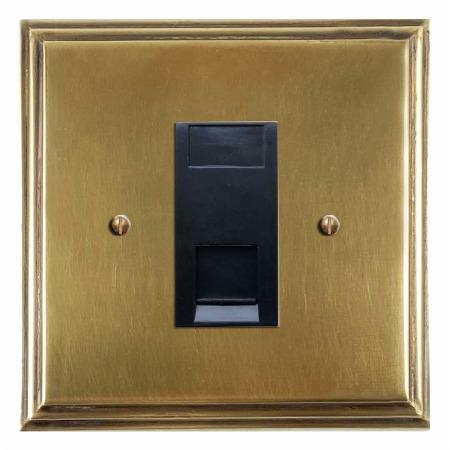 Edwardian Telephone Socket Secondary Antique Satin Brass