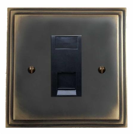 Edwardian Telephone Socket Secondary Dark Antique Relief