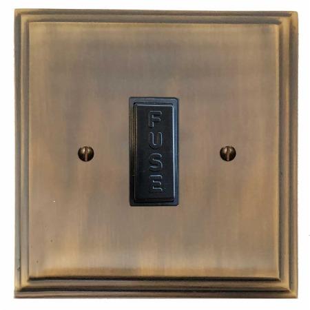 Edwardian Fused Spur Connection Unit 13 Amp Antique Brass Lacquered