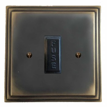 Edwardian Fused Spur Connection Unit 13 Amp Dark Antique Relief