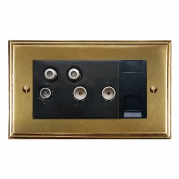 Edwardian Sky+ Socket Antique Satin Brass