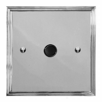Edwardian Flex Outlet Polished Chrome & Black Trim