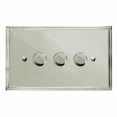Edwardian Dimmer Switch 3 Gang Polished Nickel