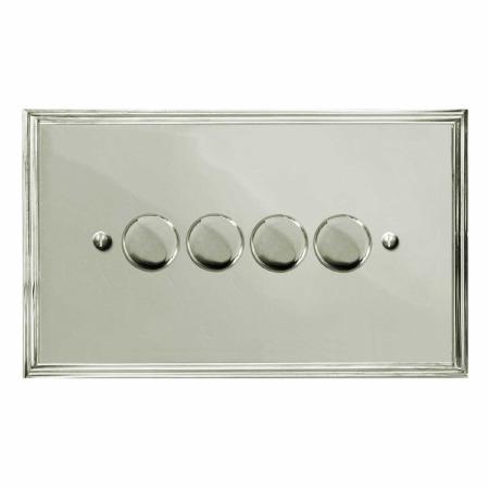 Edwardian Dimmer Switch 4 Gang Polished Nickel