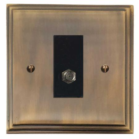 Edwardian Satellite Socket Antique Brass Lacquered