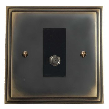 Edwardian Satellite Socket Dark Antique Relief