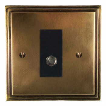 Edwardian Satellite Socket Hand Aged Brass