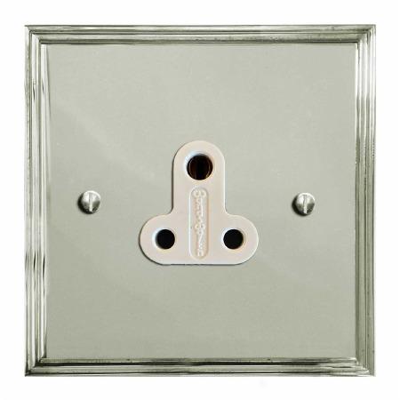 Edwardian Lighting Socket Round Pin 5A Polished Nickel