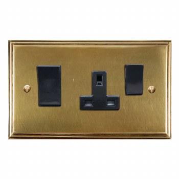 Edwardian Socket & Cooker Switch Antique Satin Brass