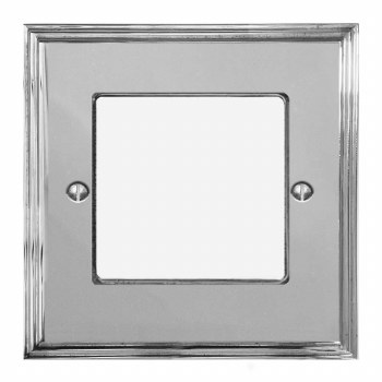 Edwardian Plate for Modular Electrical Components 50x50mm Polished Chrome