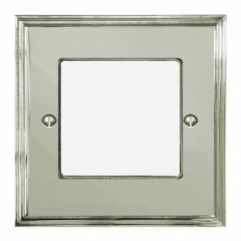 Edwardian Plate for Modular Electrical Components 50x50mm Polished Nickel