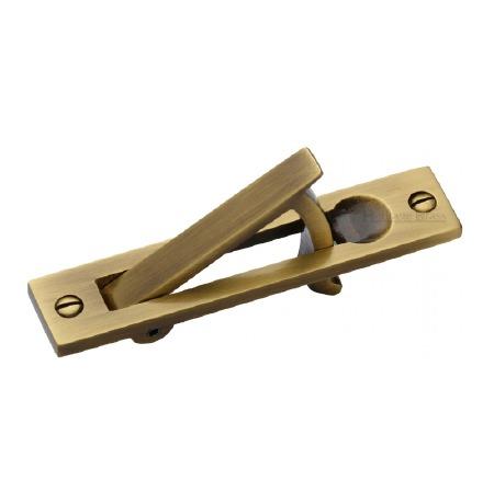 Heritage Pocket Door Edge Pull C1165 Antique Brass