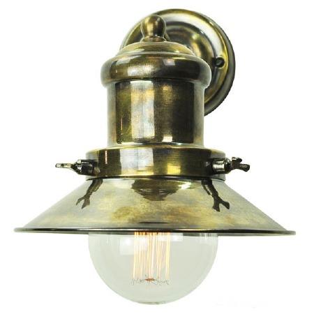 Edison Small Single Wall Light Antique Brass