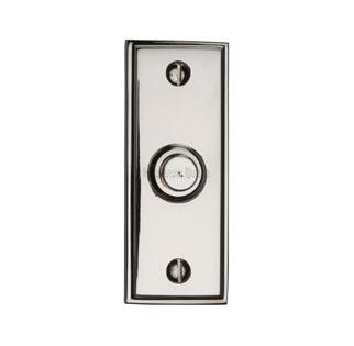 Heritage V1180 Edwardian Bell Push Polished Nickel