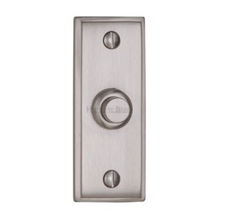 Heritage V1180 Edwardian Bell Push Satin Chrome