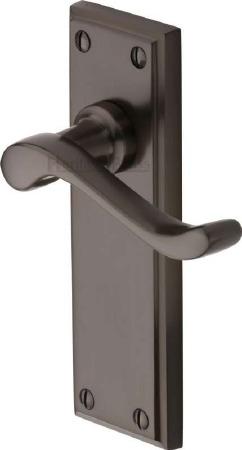 Heritage Edwardian Door Handles W3213 Matt Bronze