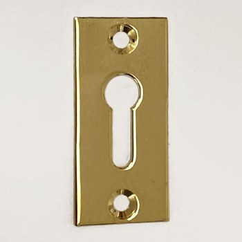 Aston Rectangular Escutcheon Polished Brass Unlacquered