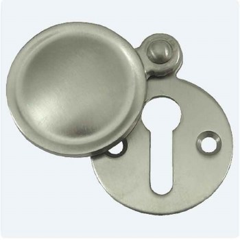 Aston Covered Circular Escutcheon Satin Nickel