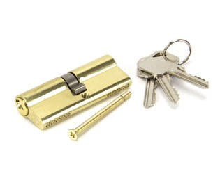 From The Anvil Euro Lock Cylinder 40/40 Polished Brass Key Differ