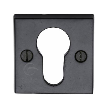 Heritage Euro Profile Escutcheon FB158 Black Iron Rustic
