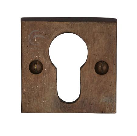 Heritage Euro Profile Escutcheon RBL158 Solid Rustic Bronze