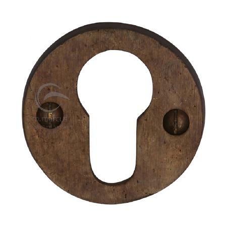 Heritage Euro Profile Escutcheon RBL556 Solid Bronze Rustic