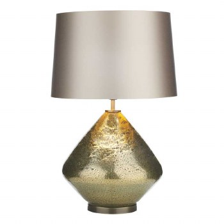 David Hunt EVO4335 Evora Table Lamp Base Gold Glass