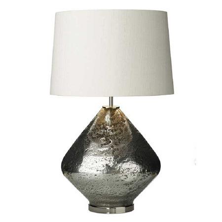 David Hunt EVO4332 Evora Table Lamp Base Pewter Glass