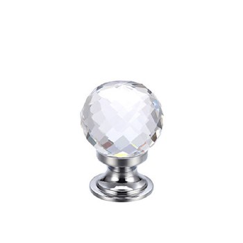 Facetted Glass Cabinet Knob 25mm, Clear