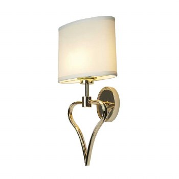 Elstead Falmouth Bathroom Wall 1 Light French Gold