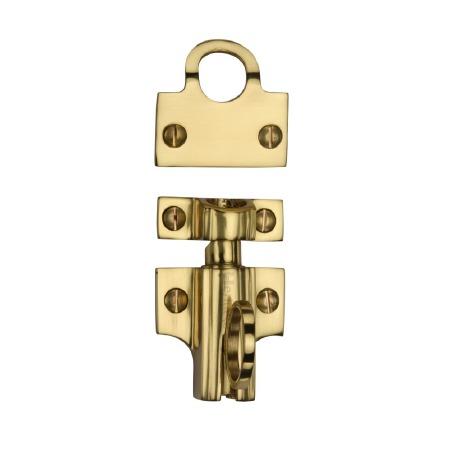 Heritage Fanlight Catch V1117 Polished Brass
