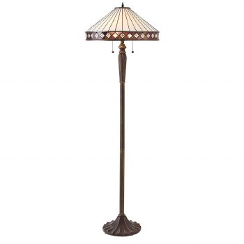 Interiors 1900 Fargo Tiffany Floor Lamp