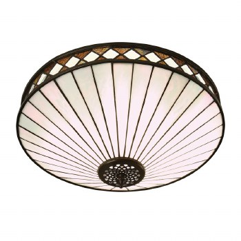 Interiors 1900 Fargo Tiffany Flush Ceiling Light