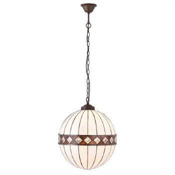 Interiors 1900 Fargo Tiffany Pendant Light Large