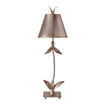 Flambeau Red Bell Table Lamp Silver