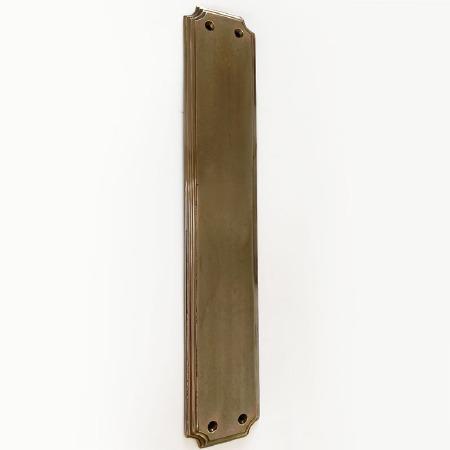Aston Finger Plate Scalloped 305mm Polished Solid Bronze Antiqued