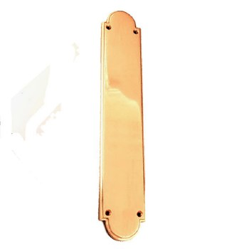 Victorian Constable 611 Finger Plate Pol. Brass Unlacquered
