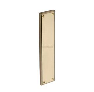 Heritage Fingerplate V743 Polished Brass