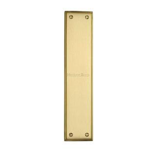 Heritage Fingerplate V743 Satin Brass