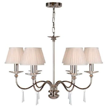 Elstead Finsbury 6 Light Chandelier Nickel