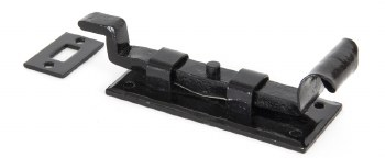 """From The Anvil Fishtail Cranked Door Bolt 4"""" Black"""